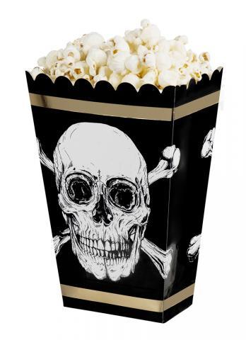 Sjörövare popcorn-boxar, 4st