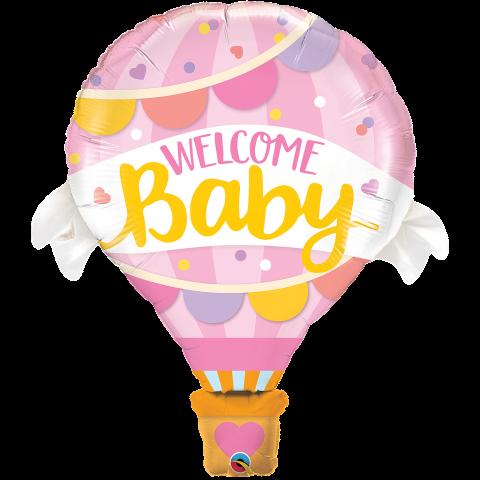 Figurfolieballong, Welcome baby rosa