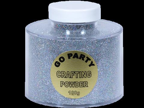 Glitter för ballongdekoration, silver