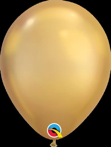 """Gummiballonger 100st, chrome gold 7"""""""