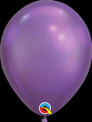 """Gummiballonger 100st, chrome purple 7"""""""