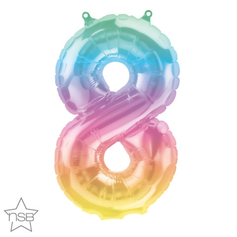 Ballong, färggrann nummer 8