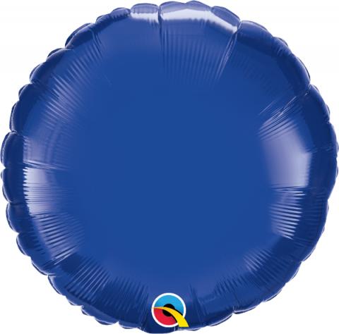 Folieballong, rund blå