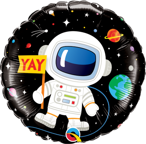 Folieballong, bday astronaut