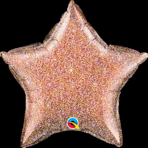 Folieballong, glittergraphic roségold