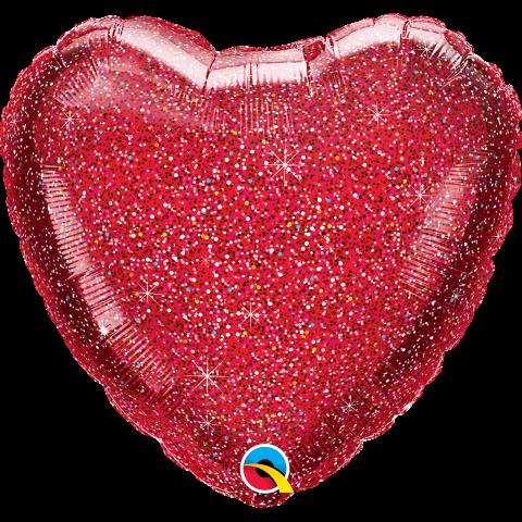 Folieballong, Glittergraphic red