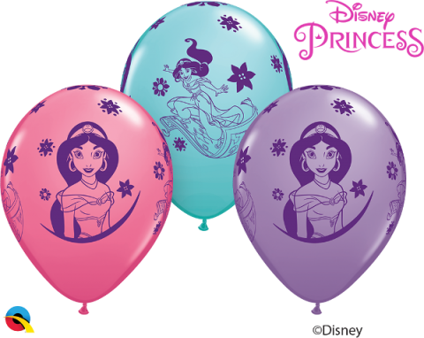 Gummiballong 6st, Princess Jasmine