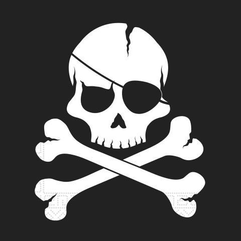 Black skull servetter