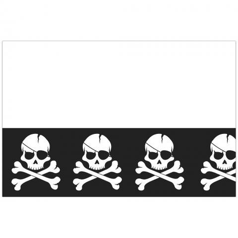 Black skull bordduk