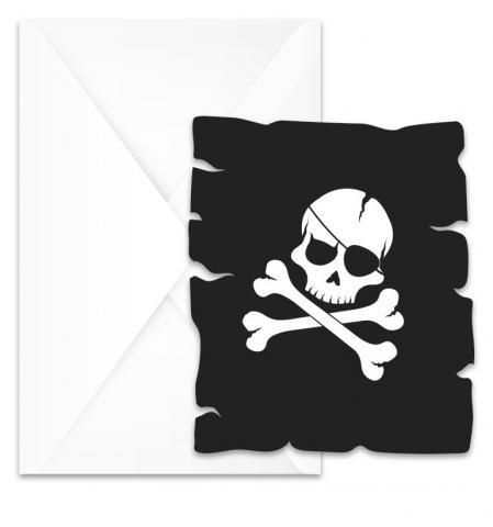 Black skull inbjudningskort