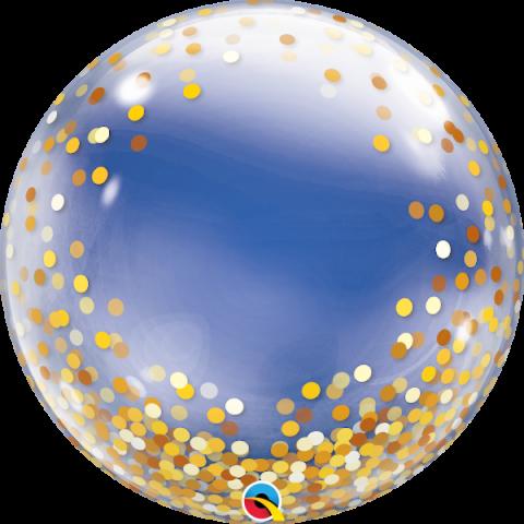 Deco Bubble, Gold Confetti 60cm