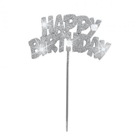 Happy Birthday-tårtdekoration med led-lampor