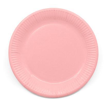 Biodegraderbara stora tallrikar, rosa