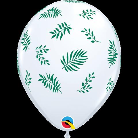 Gummiballonger 25st, tropical greenery