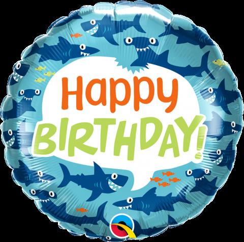 Folieballong, bday fun sharks