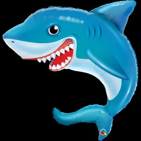 Figurfolieballong, smiling shark