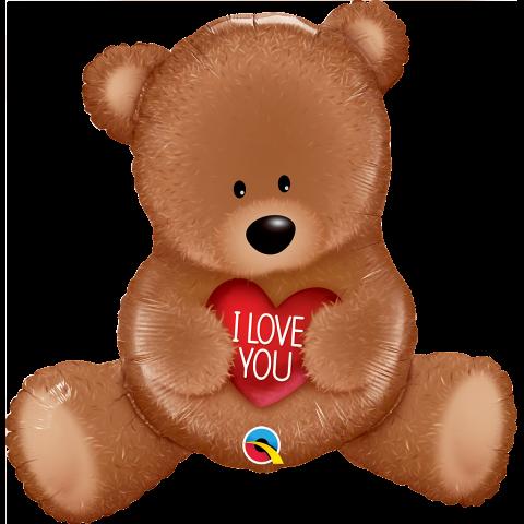 Figurfolieballong, I Love You teddy bear
