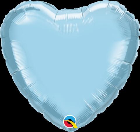 Folieballong, hjärta ljusblå
