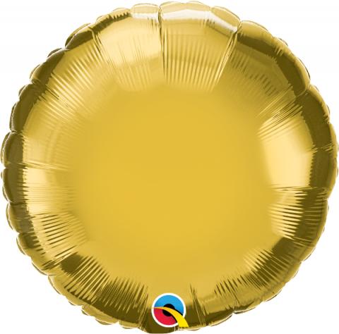 Folieballong, rund guld