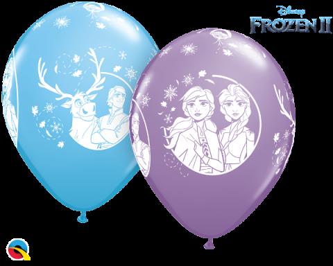Gummiballong 6 st, Disney Frozen II