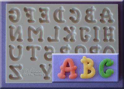 Silikonform-bokstäver