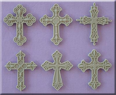 Silikonform - dekorativa kors