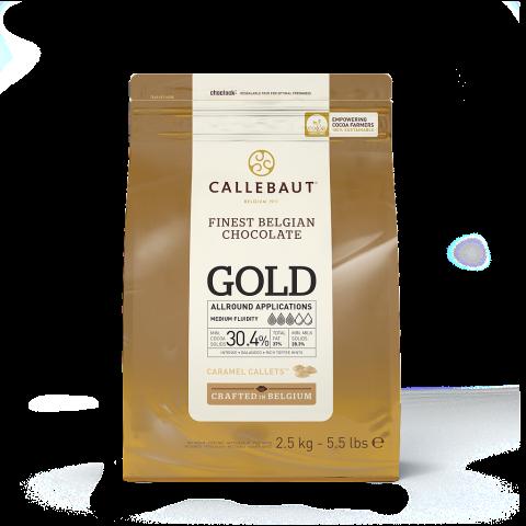 Callebaut GOLD rostad vit choklad 2,5kg