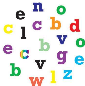 Små bokstäver -tryckdekorationmått