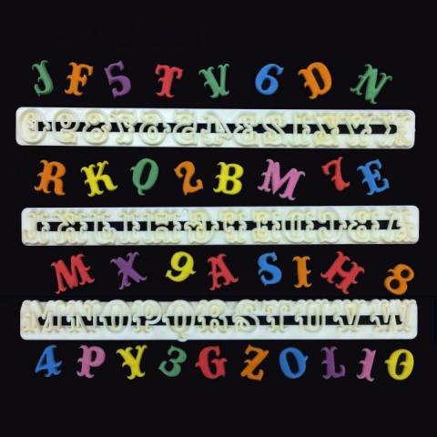 Carnival bokstäver och siffror -dekorationsformar