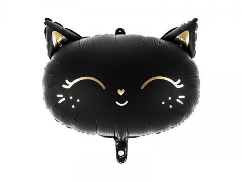 Folieballong, svart katt