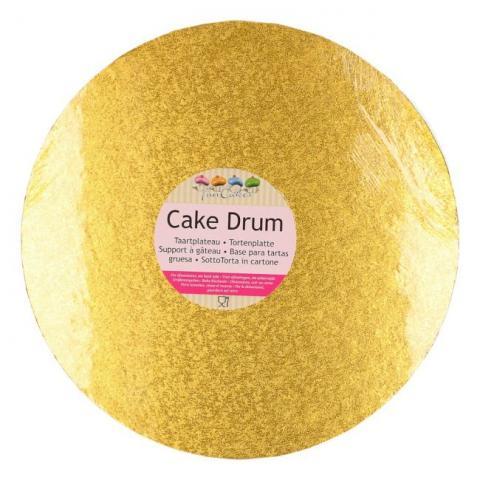 Tjock tårtbricka, 30,5cm guld