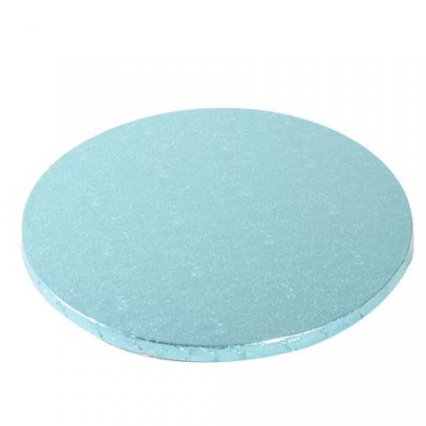 Tjock tårtbricka, 25cm ljusblå