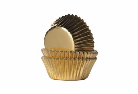 Mini-muffinsform, guld
