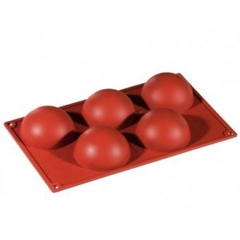Halvboll silikonform 8cm x 4cm