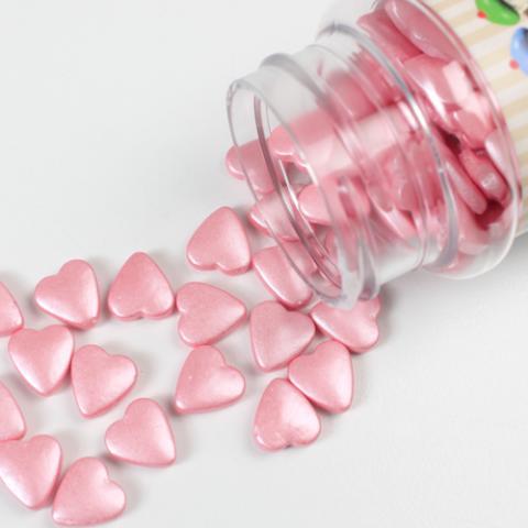FunCakes strössel, ljusrosa hjärtan