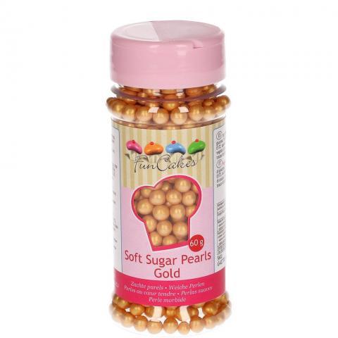 FunCakes mjuka sockerkulor, guld