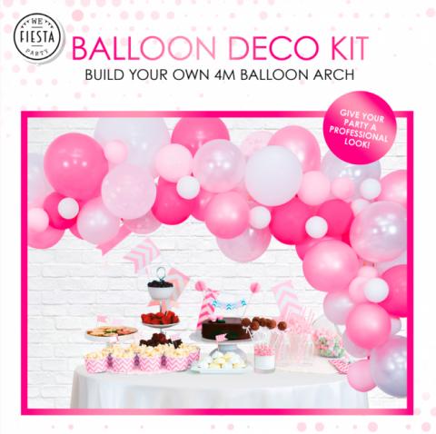 Ballongbåge kit, rosa