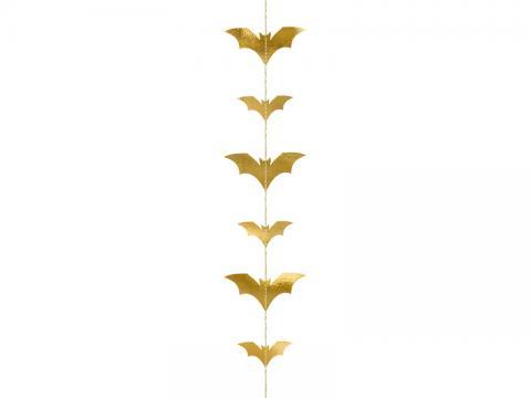 Hängande dekoration, fladdermöss i guld