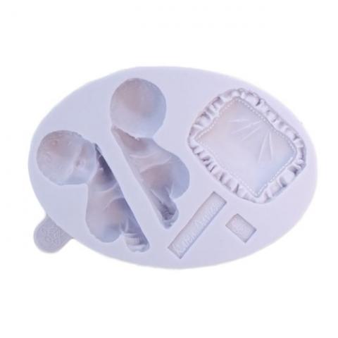 Silikonform -baby och dyna