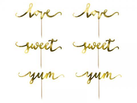 Dekorationsstickor, Love guld