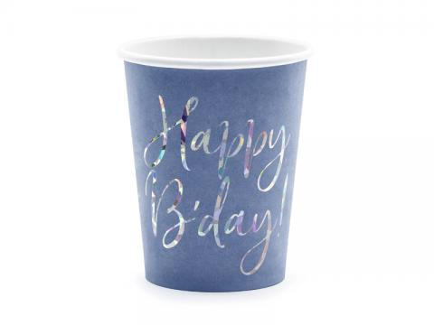 Happy B´day! muggar, blå