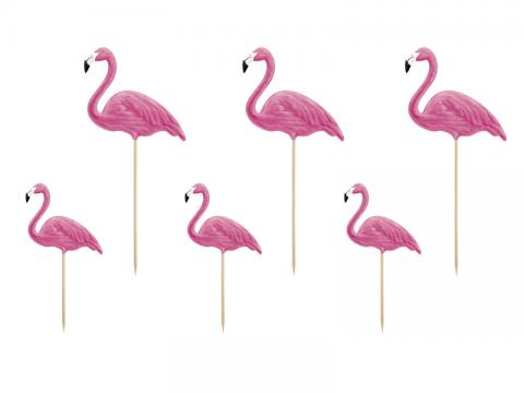 Dekorationsstickor, flamingos
