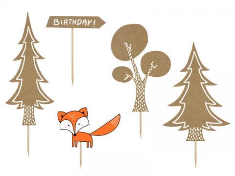 Tårtdekoration, skogens djur