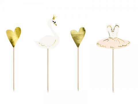 Dekorationsstickor, lovely swan
