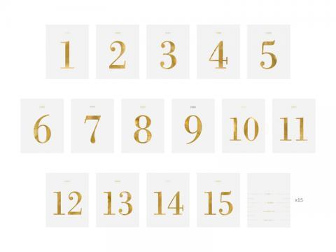 Bordsnummer klistermärken