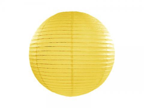 Papperslykta, gul 20cm