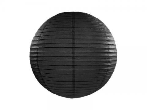 Papperslykta, svart 35cm