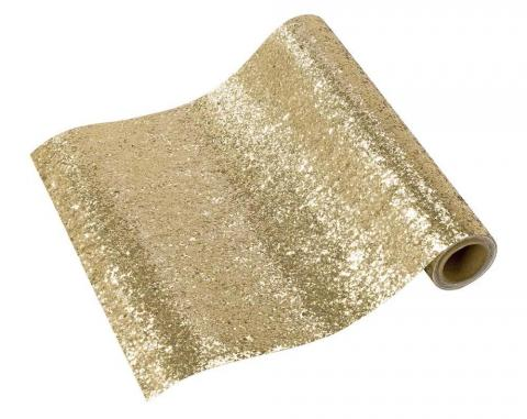 Löpare, glitter guld