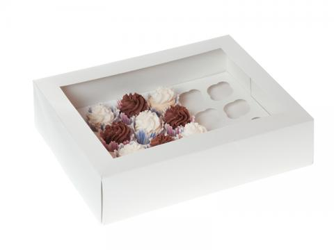 Mini-muffinkartong, vit