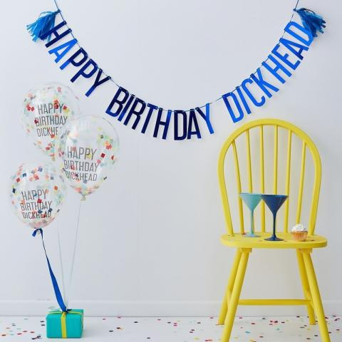 Happy Birthday Dickhead -partyset